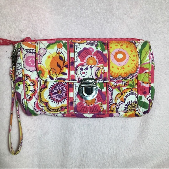 Vera Bradley Handbags - Vera Bradley Wallet (Pink and Yellow)